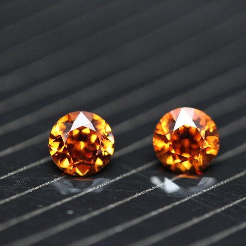 Spessartite (Paire) - 1,00 carat - Nigéria