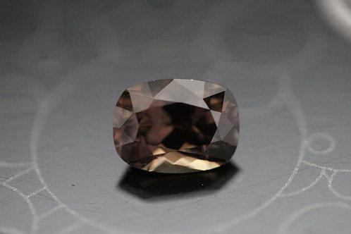 Saphir brun coussin - 1.98 carat - Madagascar