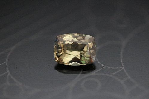 Saphir jaune brun coussin - 1,02 carat - Madagascar