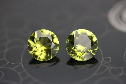 Péridot d'Arizona (Paire) - 2,72 carats - San Carlos Res., USA