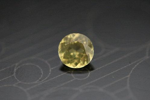 Saphir jaune rond -  0,83 carat - Madagascar