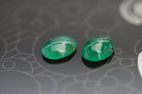 Rare Paire de Fuschites gemmes - 2,06 carats - Afrique de l'Est