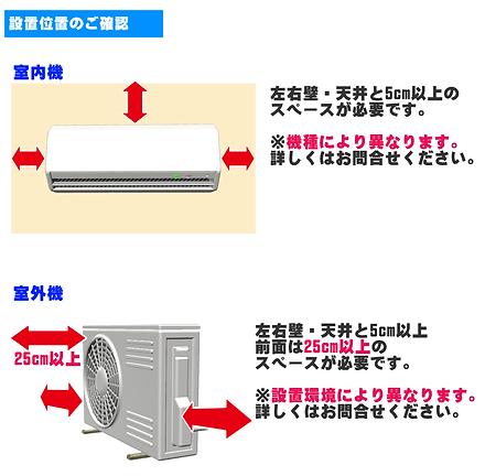 エアコン取付工事確認事項