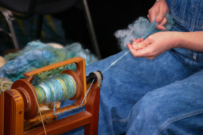Slow food?  How about slow yarn...