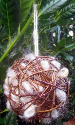 Rustic Bird Nesting Balls/Ornaments