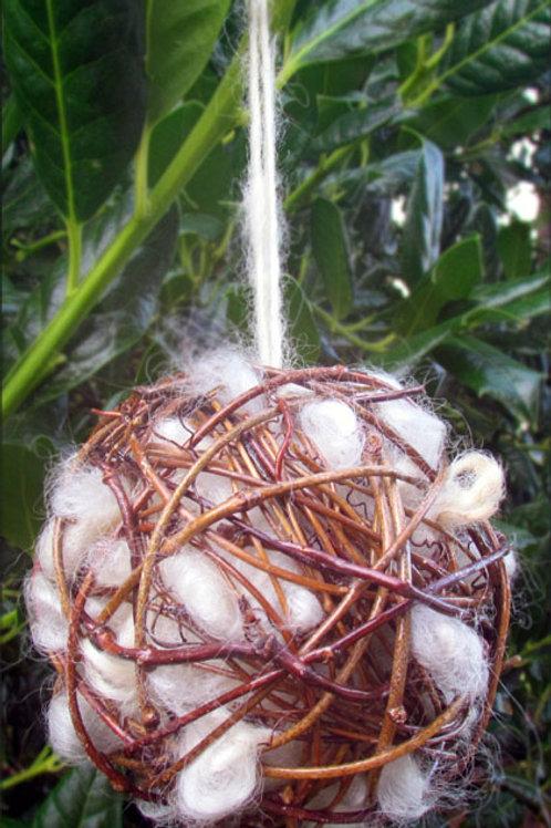 Rustic bird nesting balls/holiday ornaments (sets of 14)