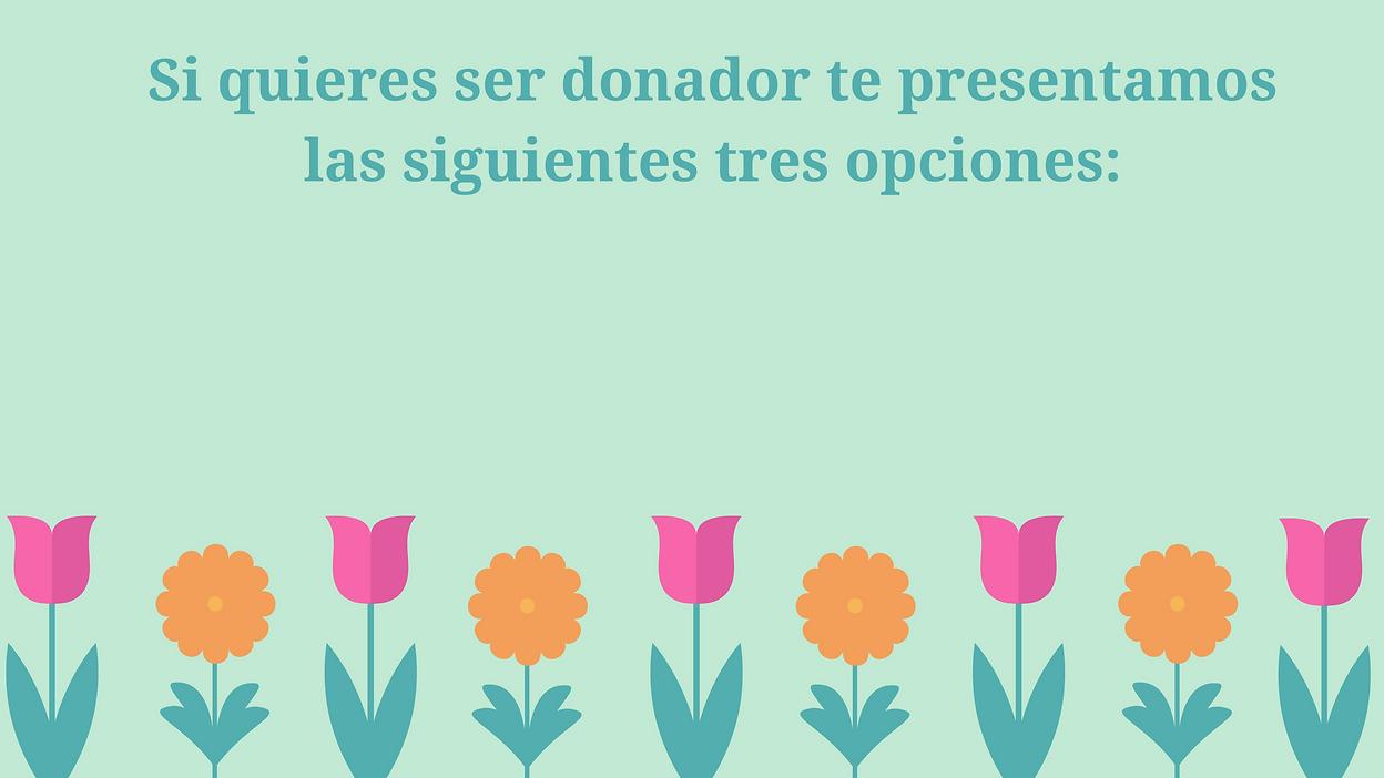 Espacio para donadores