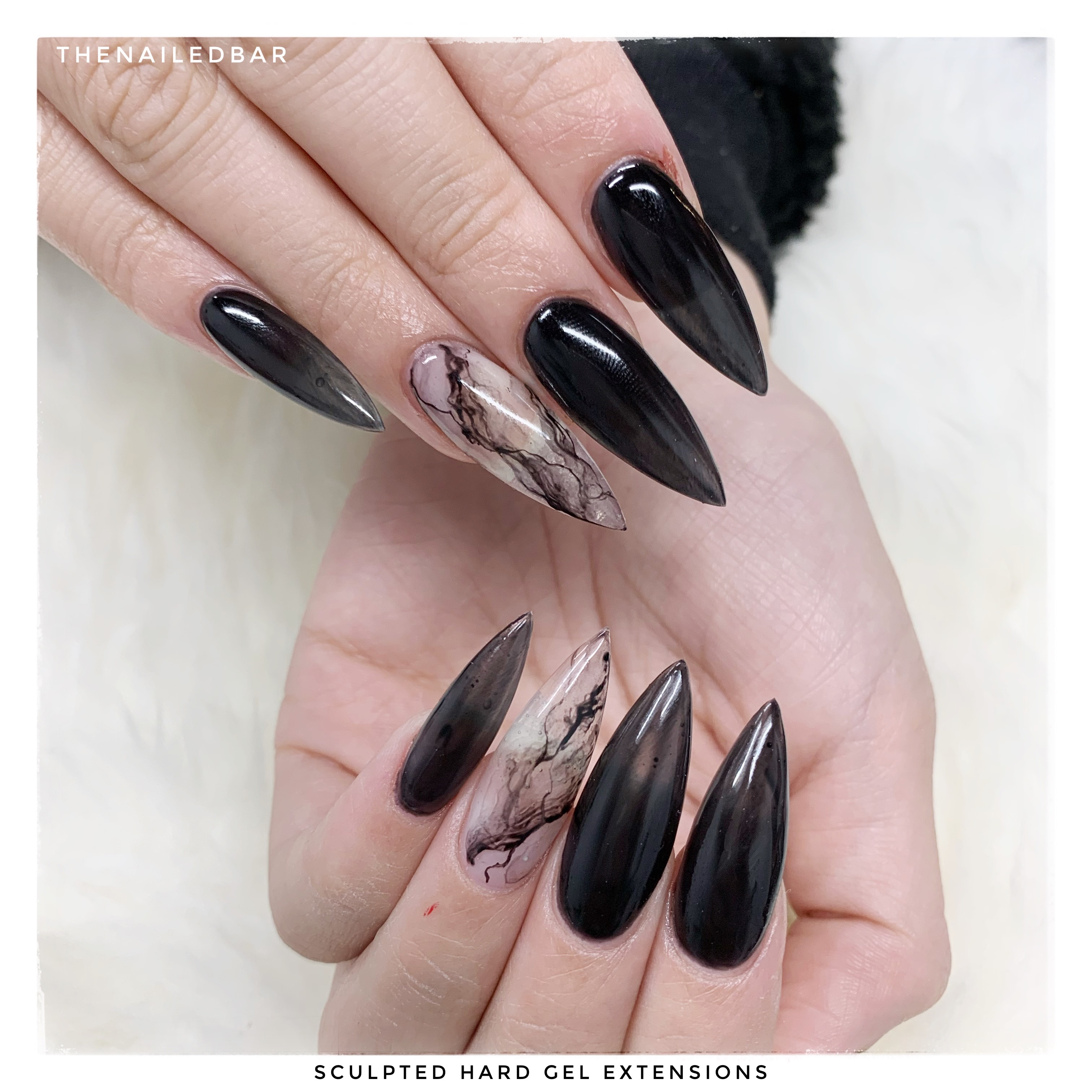 scupted hard gel extensions
