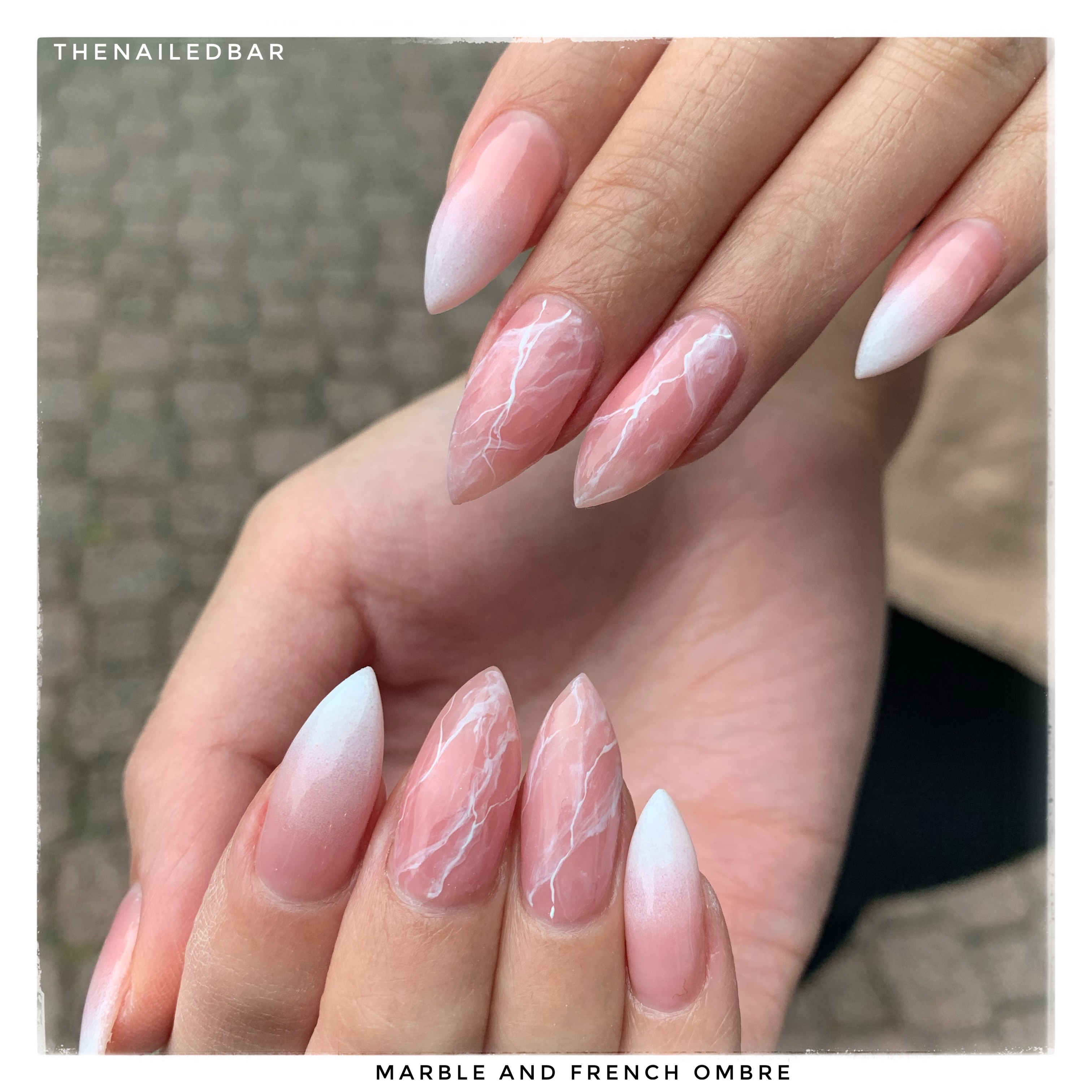 marble and french ombre