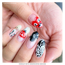 overlay with handpainted designs