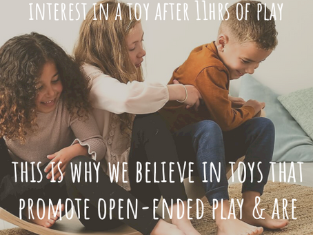 The importance of open-ended toys