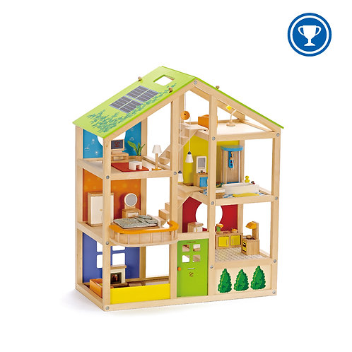 Hape All Season Doll House Furnished