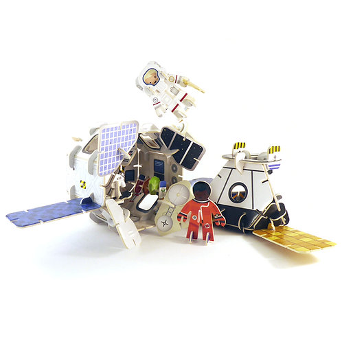 Space Station 3D Build & Play Set