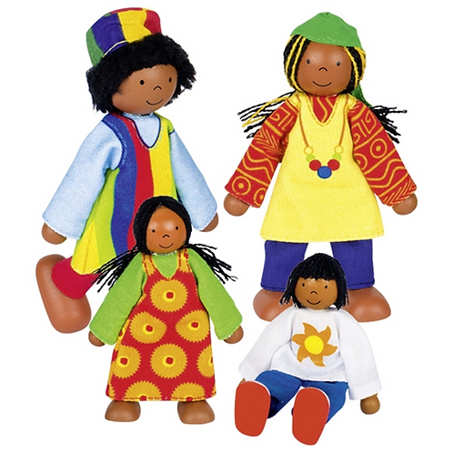 Flexible doll Figures - African Family