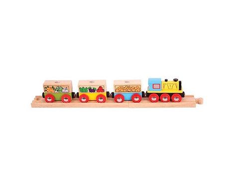 Fruit and Vegetable Railway Train