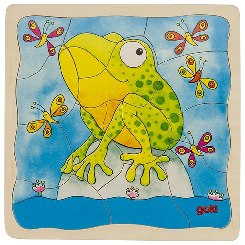 Four layer Frog Lifecycle Puzzle