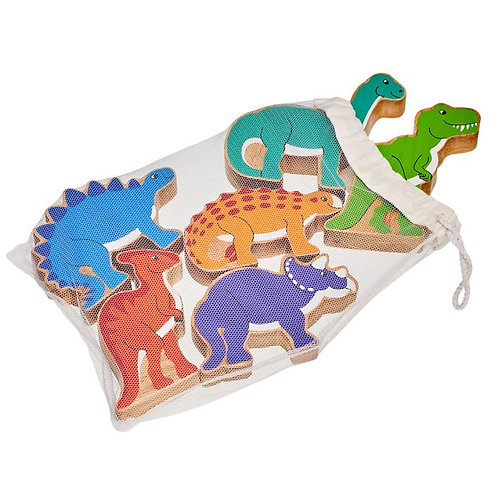 Wooden Dinosaurs - Bag of 6