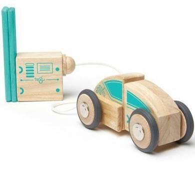 Tegu Circuit Racer Magnetic Wooden Blocks Set