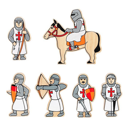 Set of 6 Red Knights