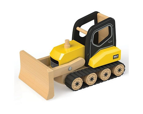 Bulldozer Wooden Construction Vehicle