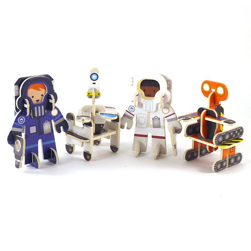 Astronaut and Robot Star Searchers Figures