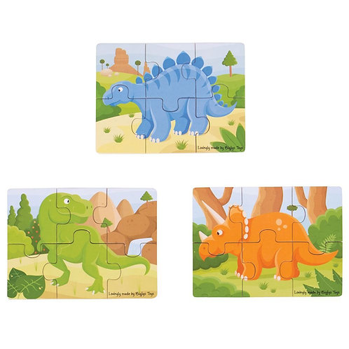 Dinosaur 6-piece Jigsaw Puzzle Set