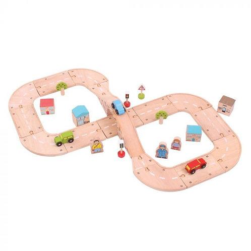 Wooden Roadway Figure of Eight Set