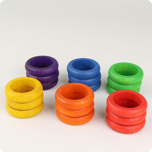 18 Rainbow Rings