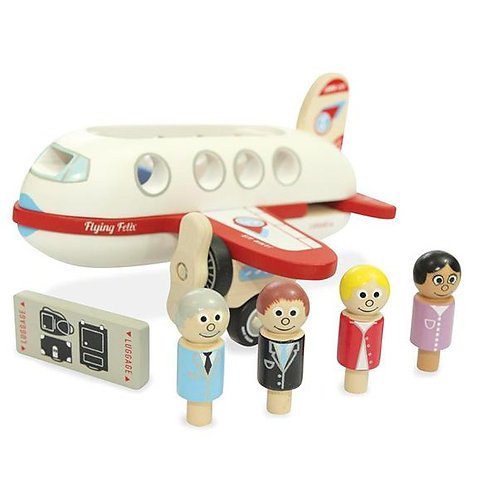 Flying Felix Aeroplane with 4 Figures