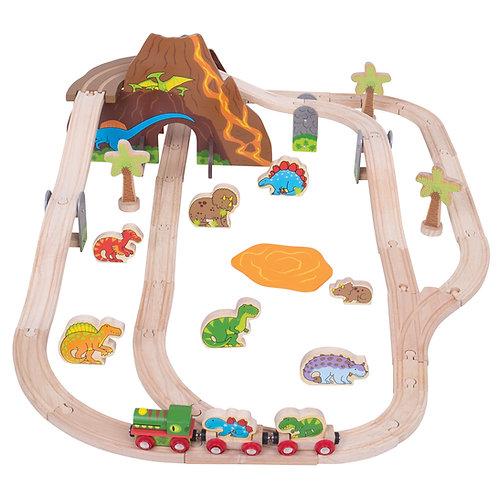 Dinosaur Railway Bundle. Set, Crane & Tunnel Bundle