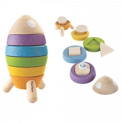 Stacking Rocket and Shape Sorter Puzzle