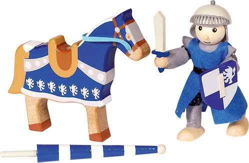 Flexible Knights Artus and Lancelot with horses