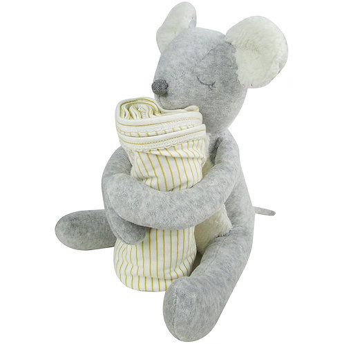 Huggy Mouse with Blanket