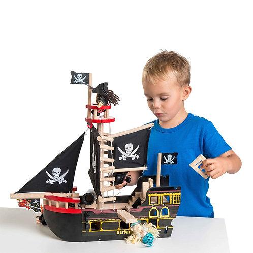 Barbarossa Pirate Ship & 3 pirate figures