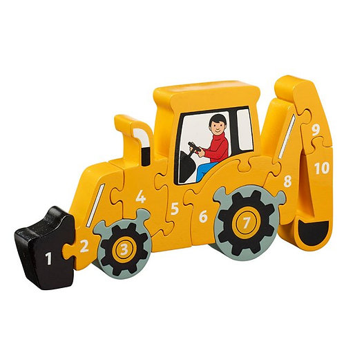 Wooden Digger 1-10 Jigsaw Puzzle
