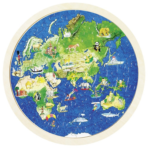 Double Sided World Puzzle