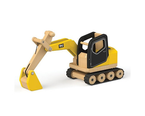 Wooden Digger Construction Vehicle