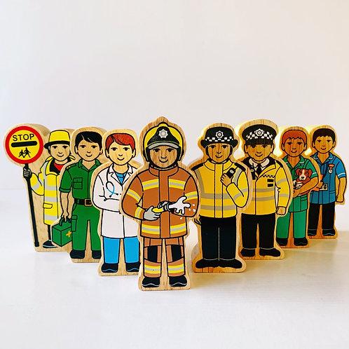 Lanka Kade People Figures