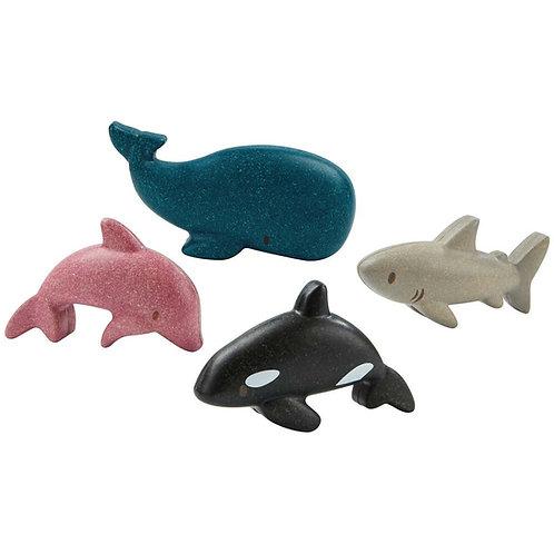 Sea life animal set