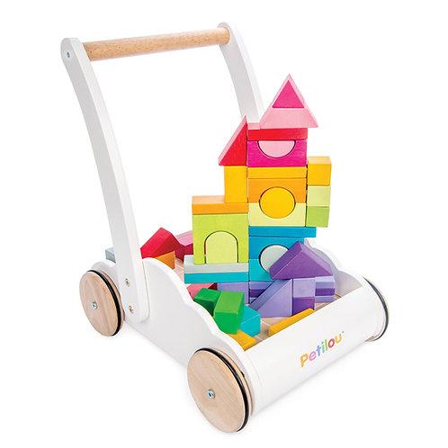 Rainbow Cloud Walker with Building Blocks