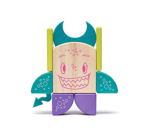 Tegu Sticky Monster Pip Magnetic Wooden Blocks Figure