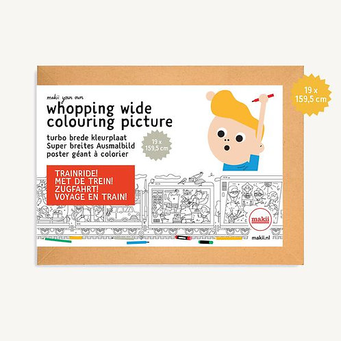 Whopping Wide Colouring Picture