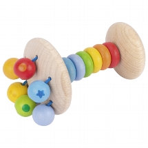 Touch Ring Elastic Rattle Rainbow Clutching Toy