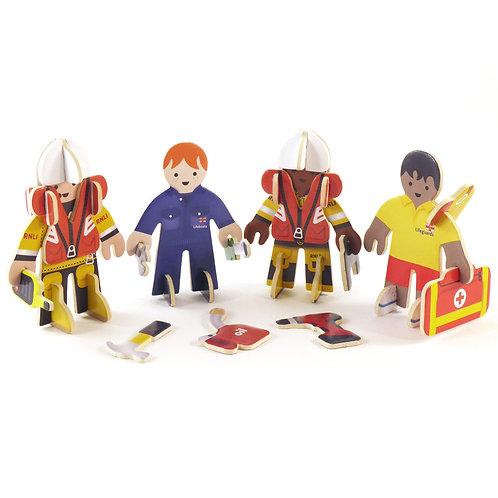 RNLI lifeboat lifesaver people set
