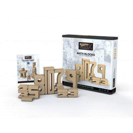 Sumblox Number Blocks Home Building Set & Construction Game