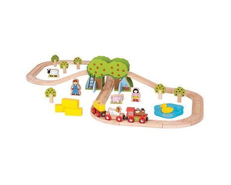 Farm Railway Bundle Set, Windmill, Tractor & Train
