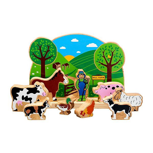Junior Farm Playscene with 9 characters