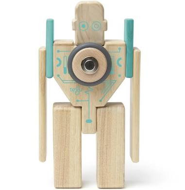 Tegu Magbot Magnetic Wooden Blocks Robot Set