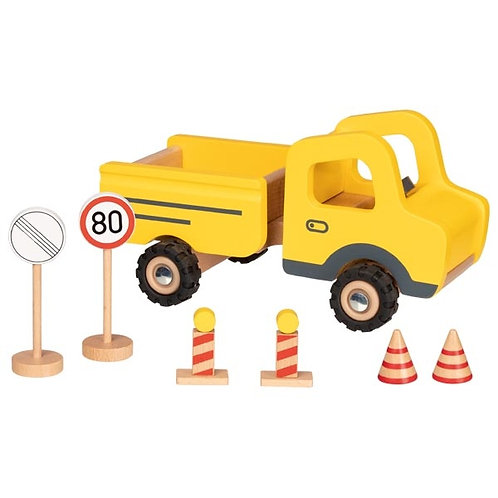 Construction Site Vehicle with traffic signs