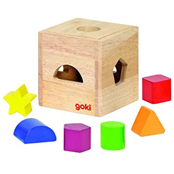 Wooden Sort Box with 7 pieces